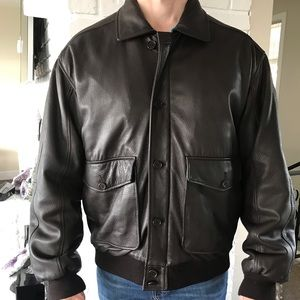 Other - Faconnable  Deerskin Leather Bomber Jacket Nice M